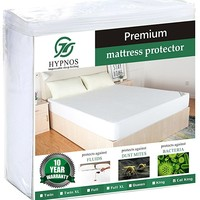 Twin XL Size Mattress Pad Protector - Premium Waterproof & Hypoallergenic Cover - Vinyl Free, Terry Cotton Topper - Hypnos