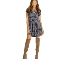 Gray Foggy Night Dye Tunic