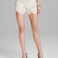 Alice + Olivia Shorts - High Waist Sequin Lace