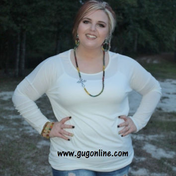 Piko Tunic Top in Ivory