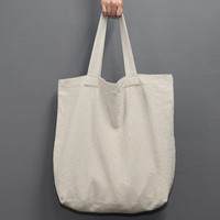 Page25 Natural and Pure linen eco large tote bag - Ivory