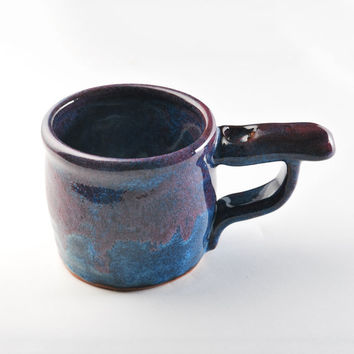 Topboro - Ceramic WakeNBake Pipe Mug Blue & Purple