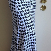 Black and white houndstooth maxi skirt, summer skirt, chevron maxi skirt, skirt, maternity skirt, long skirt