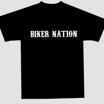 Biker Nation Short Sleeve Tee Shirt