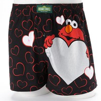 Sesame Street Elmo ''Be Mine'' Valentine's Day Boxers