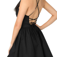 Black Backless Cami Dress