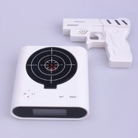 Laser Target Gun Alarm Clock with LCD Screen: Home & Kitchen