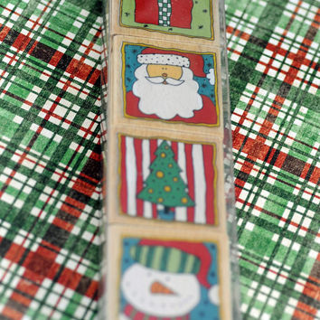Set of Christmas Rubber Stamps, Scrapbooking, Card Making, Thank Yous, Unused Stamps #601