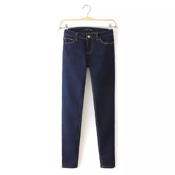 Women's Fashion Hip Up Denim Skinny Pants [4919623556]