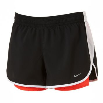 Nike Dri-FIT Racer Printed Double-Layer Running Shorts - Women's