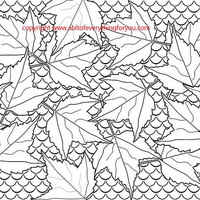 fall leaves fish scales coloring page abstract nature art leaf pattern line art background art printable digital download image graphics