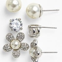 Lydell NYC Boxed 'Girly' Stud Earrings (Set of Three) | Nordstrom