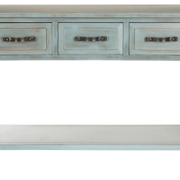 Addison Console, Antiqued Blue, Console Table