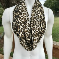 Leopard Print Infiniy Scarf-Women's infinity scarf-Animal Print-Mommy and Me Leopard Scarf from Nicole Ray Shop