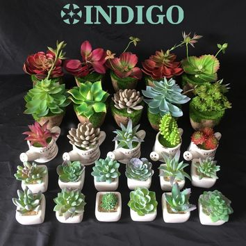 Frosted Artificial Succulent Potted Plant