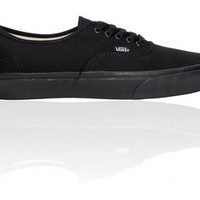 VANS AUTHENTIC ALL BLACK CANVAS NEW IN BOX VARIOUS SIZES MEN'S AND WOMEN'S