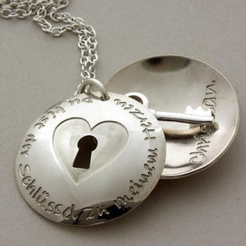 Personalized locket love necklace 925silver You are by NoWayOut