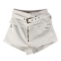 Fold Belt High Waisted Shorts