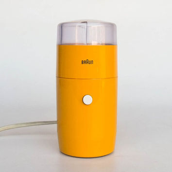 Iconic Braun / Iskra Electric Coffee Grinder / Surgar Mill KSM 1 by Reinhold Weiss / Yellow - Orange