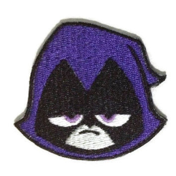 Iron on Teen Titans Raven embroidered patch