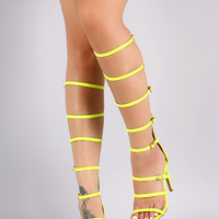Liliana Strappy Buckled Gladiator Heel