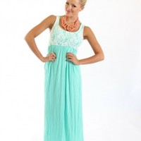 Girly Lace Maxi Mint - Modern Vintage Boutique