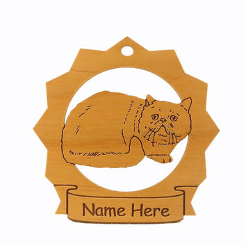 Exotic Shorthair Cat Wood Ornament 087170 Personalized With Your Cat's Name
