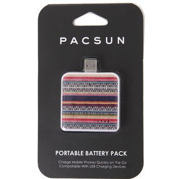 PacSun Tribal Portable Battery Charger - Womens Scarves - Multi - One