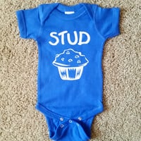 Stud Muffin - Boys Onesuit  - Mia Grace Designs - Ruffles with Love - Baby Clothing - RWL Kids