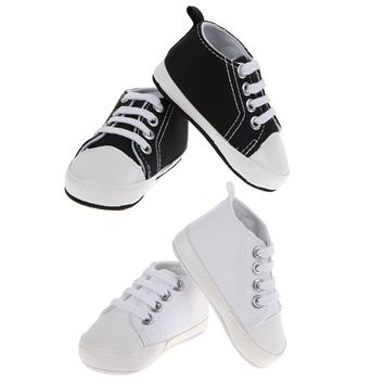Classic Baby First Walkers Fashion Black/White