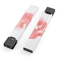 Skin Decal Kit for the Pax JUUL - Coral Watercolor Hibiscus