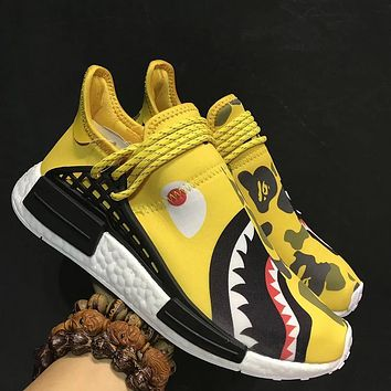 Best Deal Online Adidas Boost EOOOCX Pharrell Human Race Shark Men Running Shoes