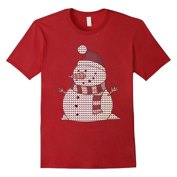 Snowman T-Shirt Cute Funny Ugly Christmas Sweater Tees Tops