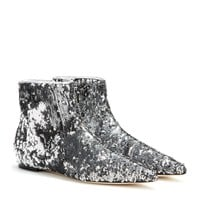 dolce & gabbana - sequin ankle boots