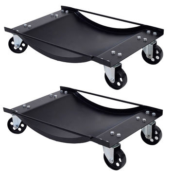2 PCS Black Wheel Dolly Set