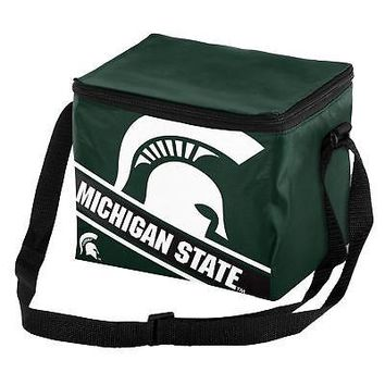 Licensed Michigan State Spartans NCAA Cooler 6 Pack Ice Lunch Box Bag KO_19_1
