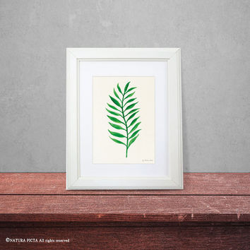 Leaf print-watercolor leaf print-fall print-harvest print-leaf wall art-home decor-botanical print-nature print-garden-NATURA PICTA-NPWP03