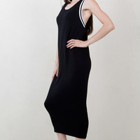 Sugarlips Fair Game Black Sleeveless Knit Maxi Dress
