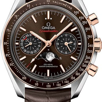 Men's Omega Speedmaster Moonwatch with Brown Dial and Strap 304.23.44.52.13.001