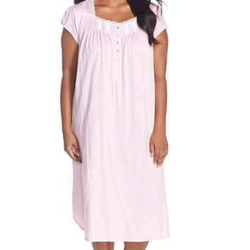Plus Size Women's Eileen West 'Meadow' Cotton Ballet Nightgown,