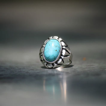 Turquoise Cocktail Ring, Big Turquoise Statement Ring, Trendy Adjustable Ring, Blue Fashion Rings, Blue Jewelry, Stacking Ring, Boho Rings