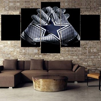 Many Style Dallas Cowboys Sport Team Logo Prints Wall Home Decor Picture Canvas Painting Calligraphy For Living Room Bedroom