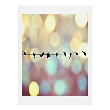 Shannon Clark Birds And Bokeh Art Print