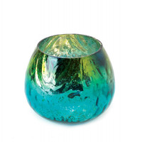 Peacock Glass Tealight Candleholder