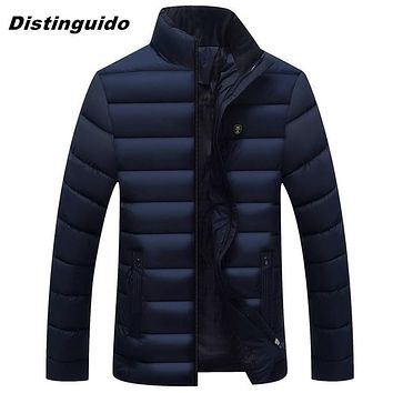 Fashion Padded Quilted Warm Male Jackets Autumn Winter Parka Men Jacket Coat Outerwear MJK057