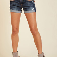 Canoes Flash Denim Shorts in Dark Wash | Mod Retro Vintage Shorts | ModCloth.com