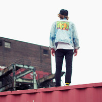 Keith Haring Bleached Denim Jacket