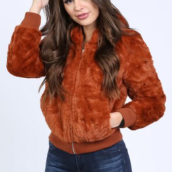Super Chic Fur Bomber Jacket