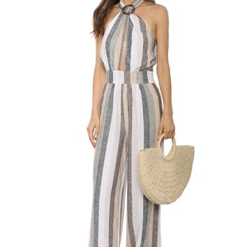 Decker Cross Halter Jumpsuit