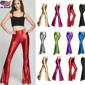 Women's Skinny Fit Bell Bottom Pants